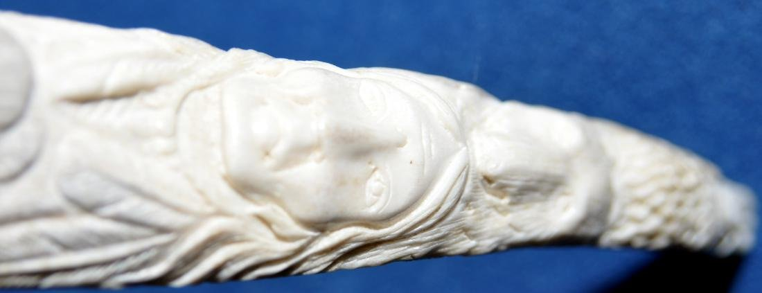 American Indian antler carving - 10