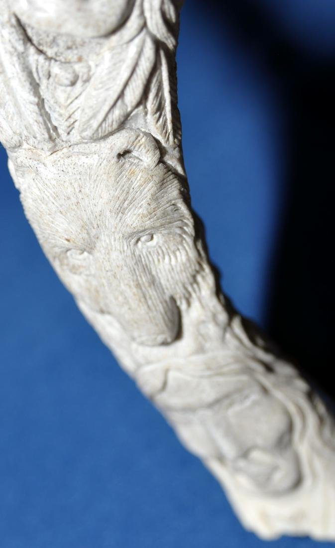 American Indian antler carving - 12