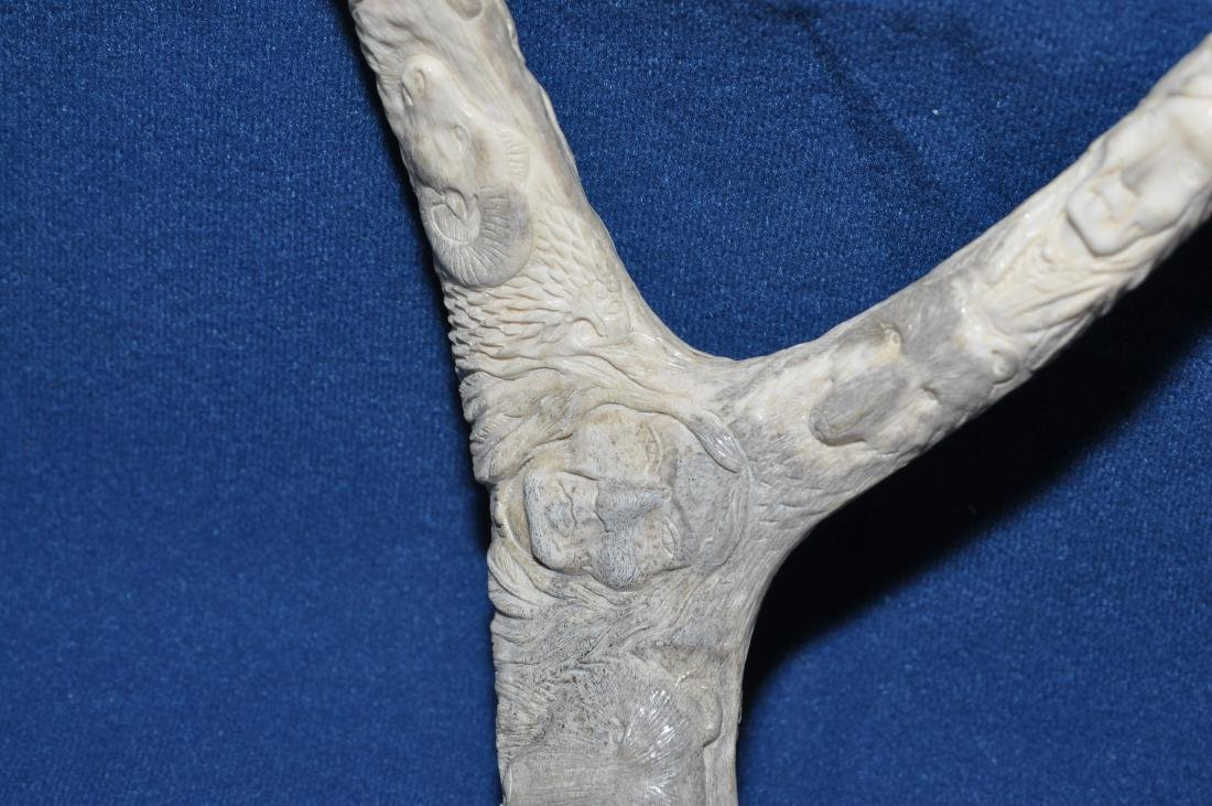 American Indian antler carving - 13