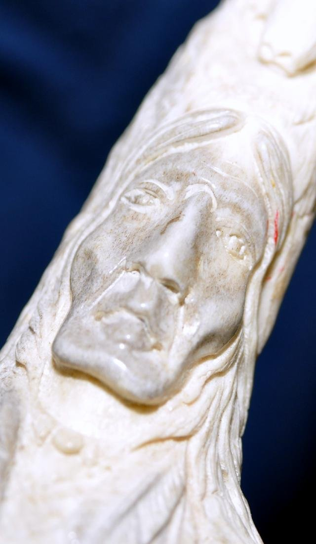 American Indian antler carving - 8