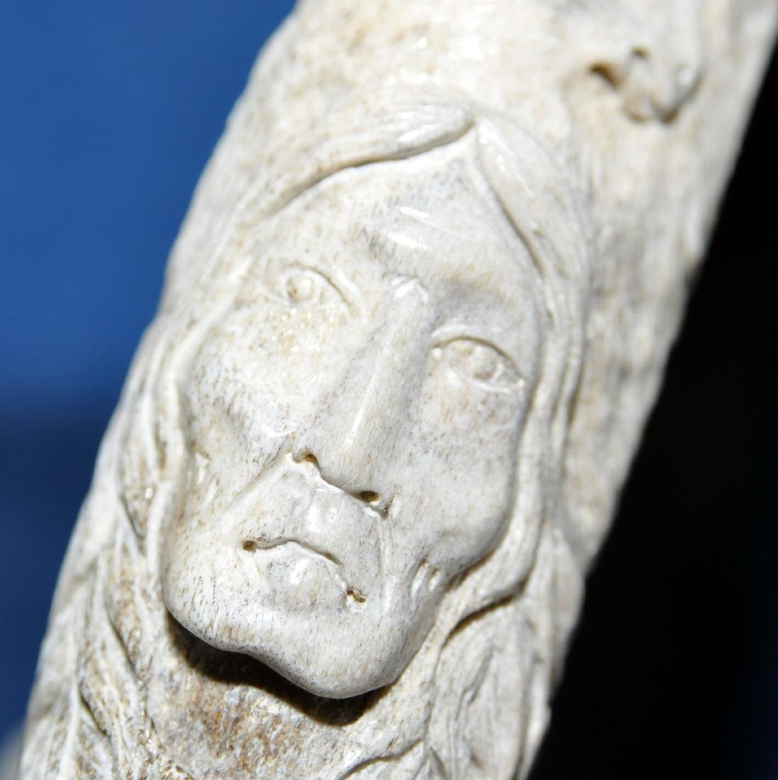 American Indian antler carving - 9