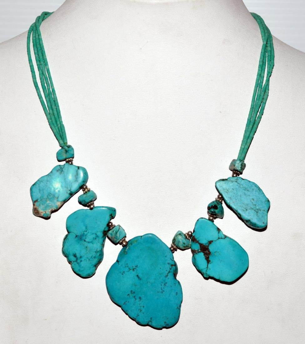 Howlite necklace custom designed.