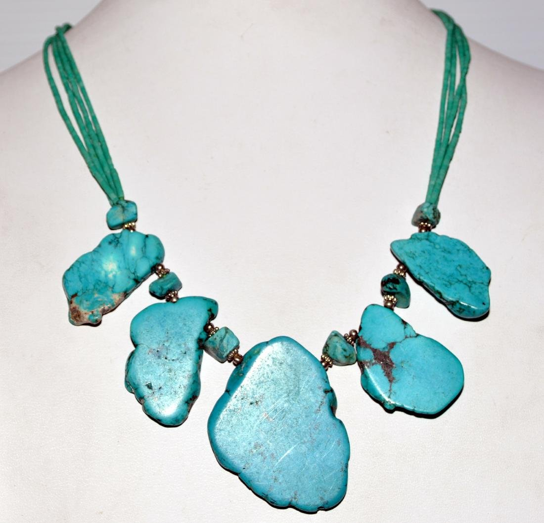 Howlite necklace custom designed. - 5