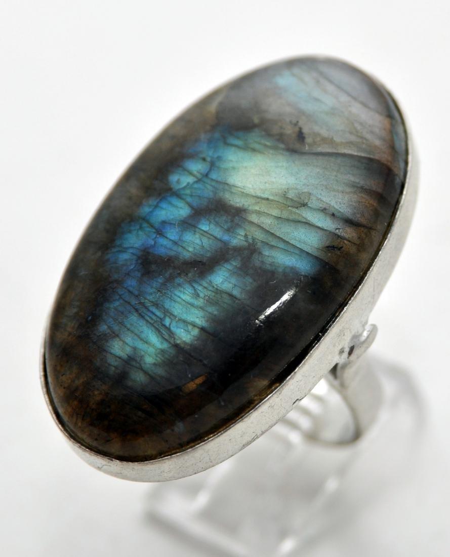 Sterling labradorite ring custom