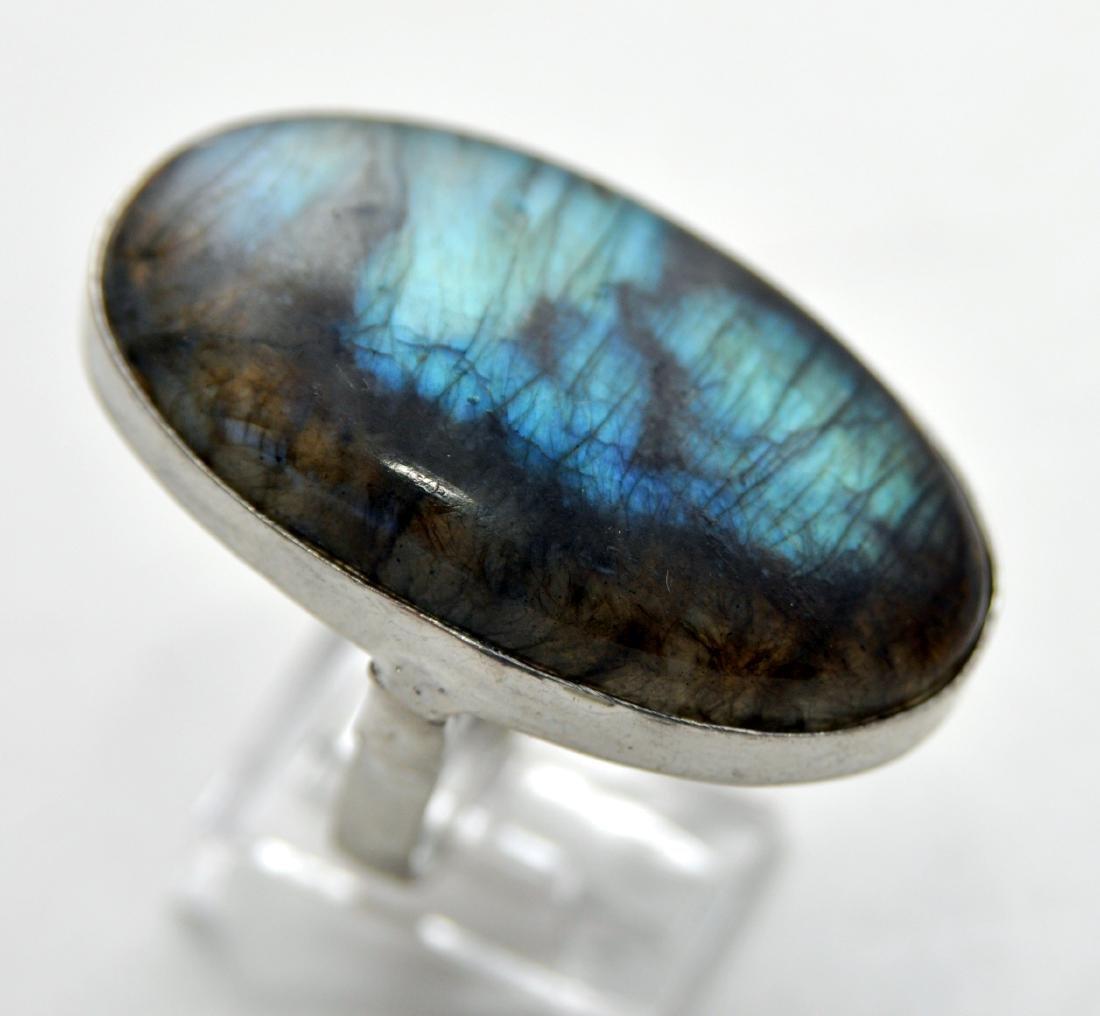 Sterling labradorite ring custom - 2