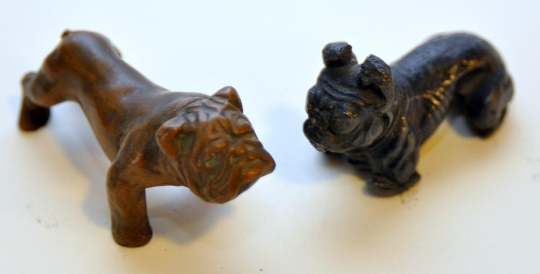 Vintage bull dog statues metal