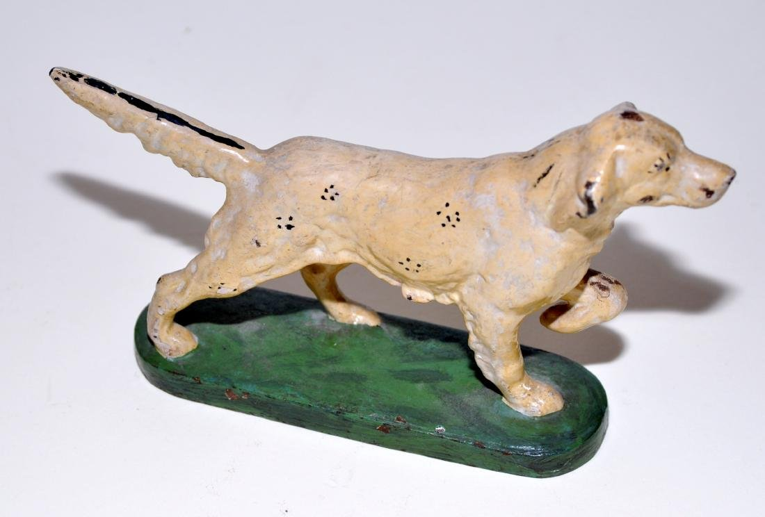 Vintage cast iron English setter doorstop Hubley