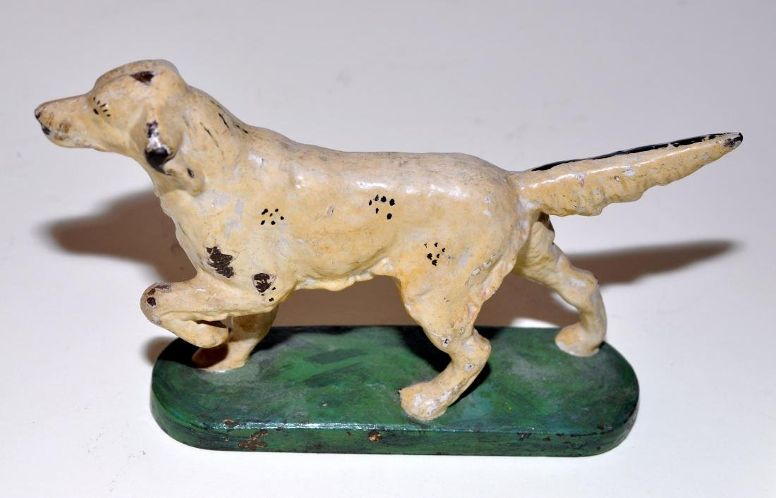 Vintage cast iron English setter doorstop Hubley - 2