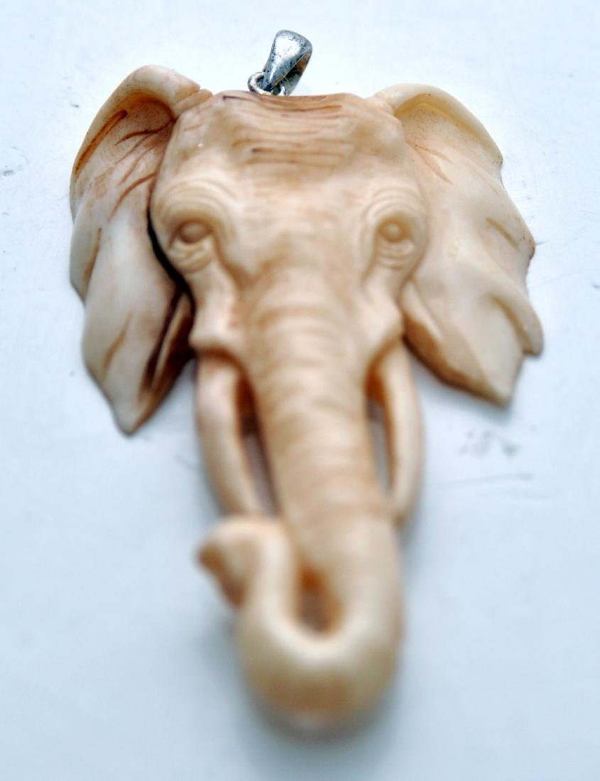 Elephant pendant carved ancient
