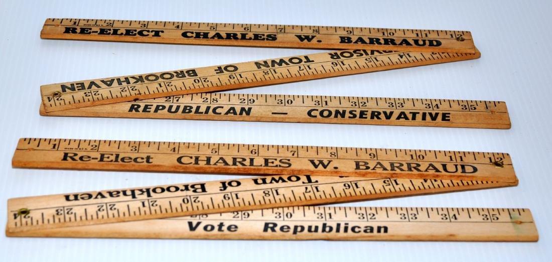 Vintage folding wood rulers advertising