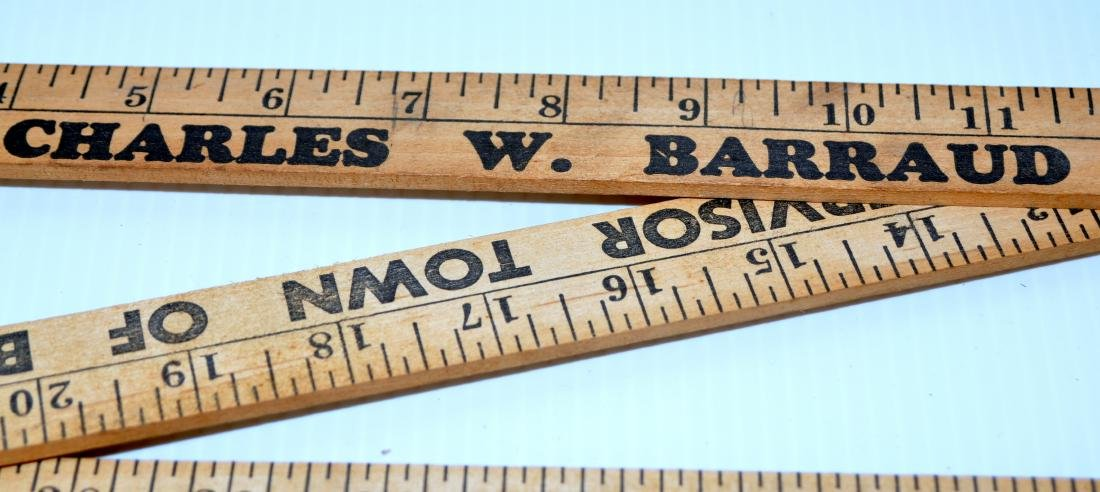Vintage folding wood rulers advertising - 3