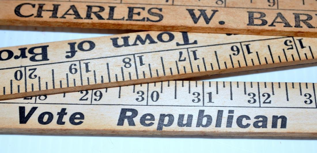 Vintage folding wood rulers advertising - 4
