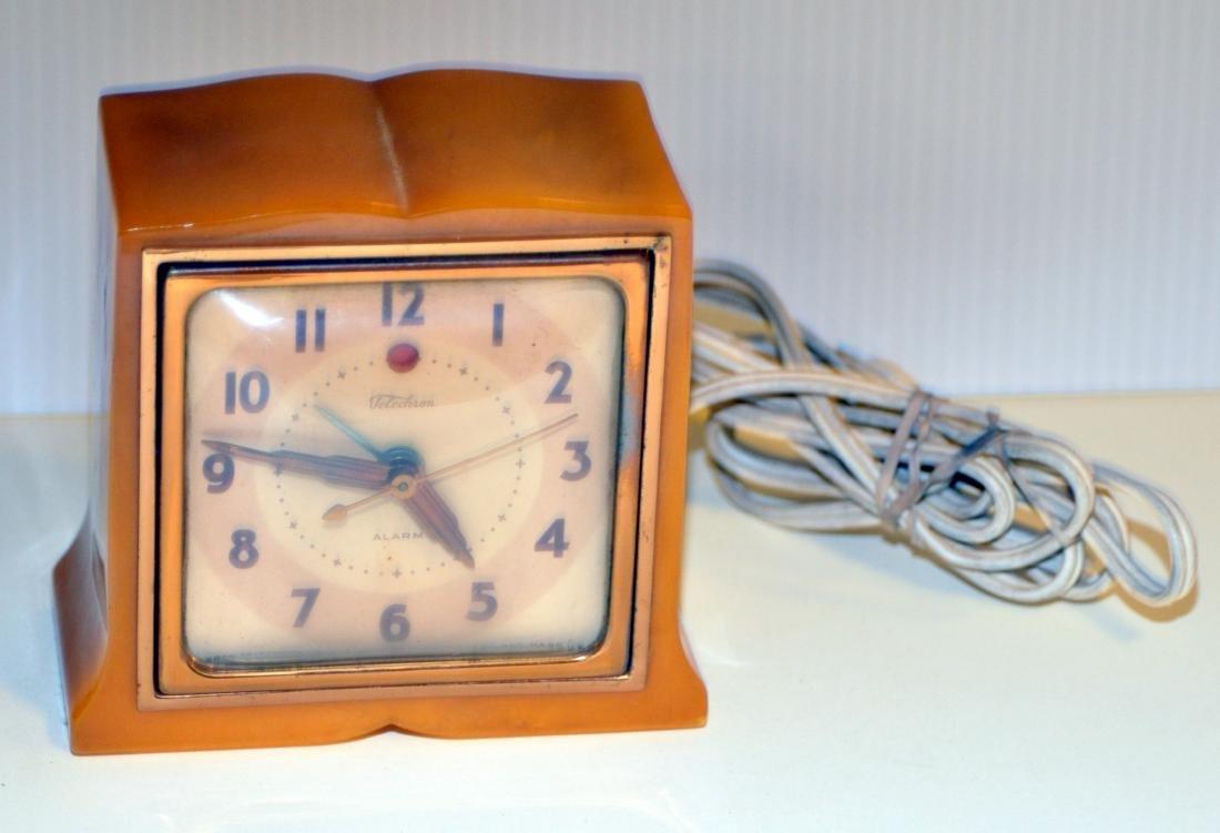 Vintage 40's  Telechron bakelite clock