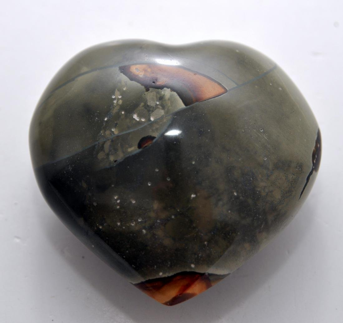 Heart septarian gemstone carving - 2