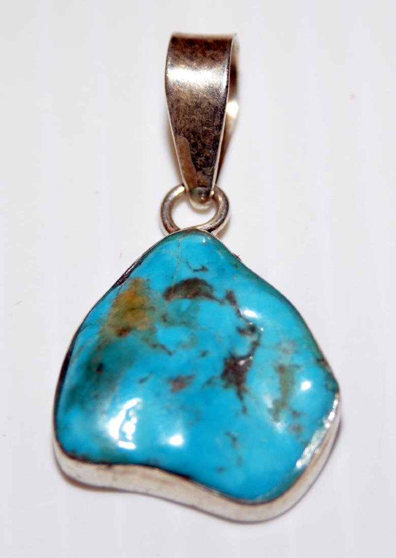 Sterling turquoise pendant howlite