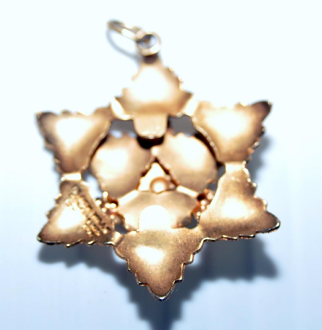 Black Hills gold pendant star - 3
