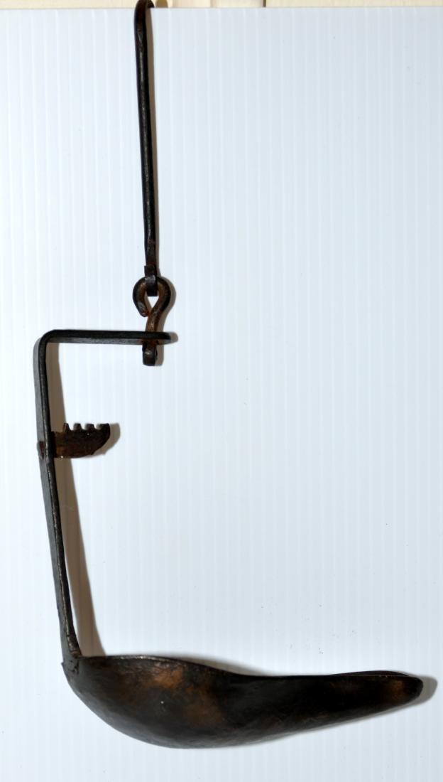 American lard lamp hanging vintage - 2