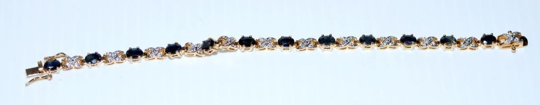 Vermeil sapphire bracelet straight line - 2