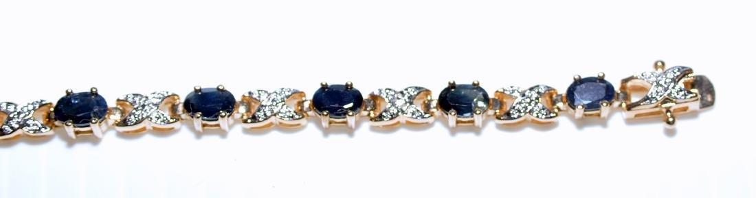 Vermeil sapphire bracelet straight line - 3