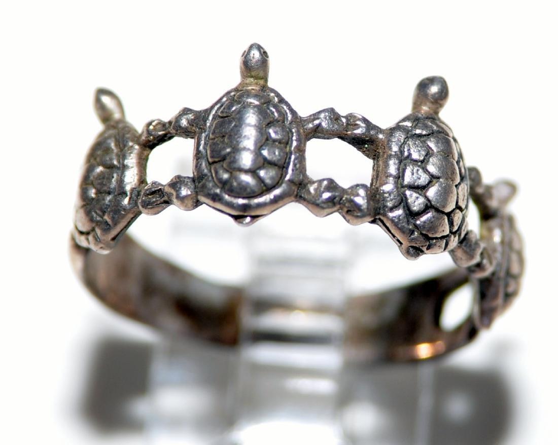 Turtle vintage sterling band
