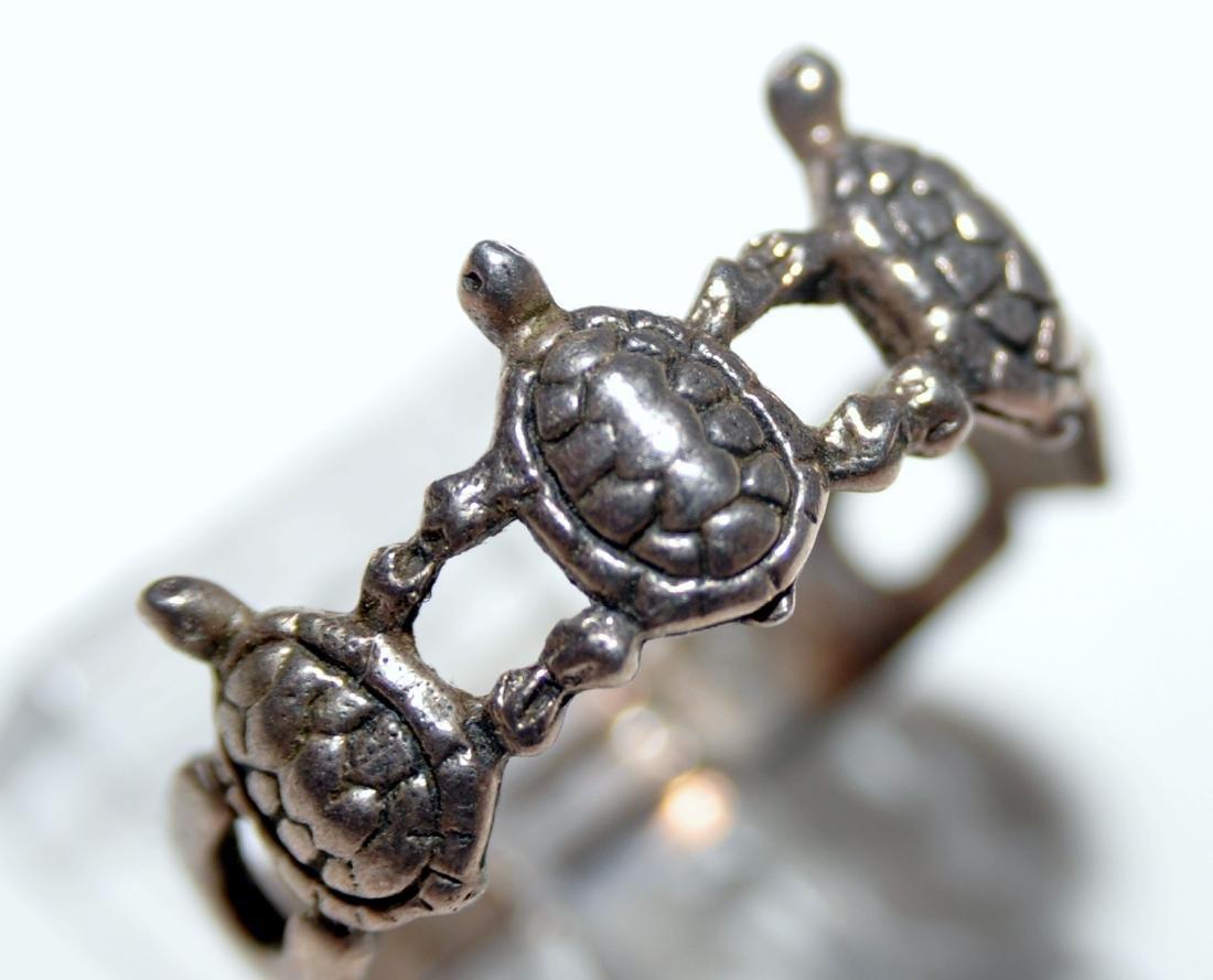 Turtle vintage sterling band - 2