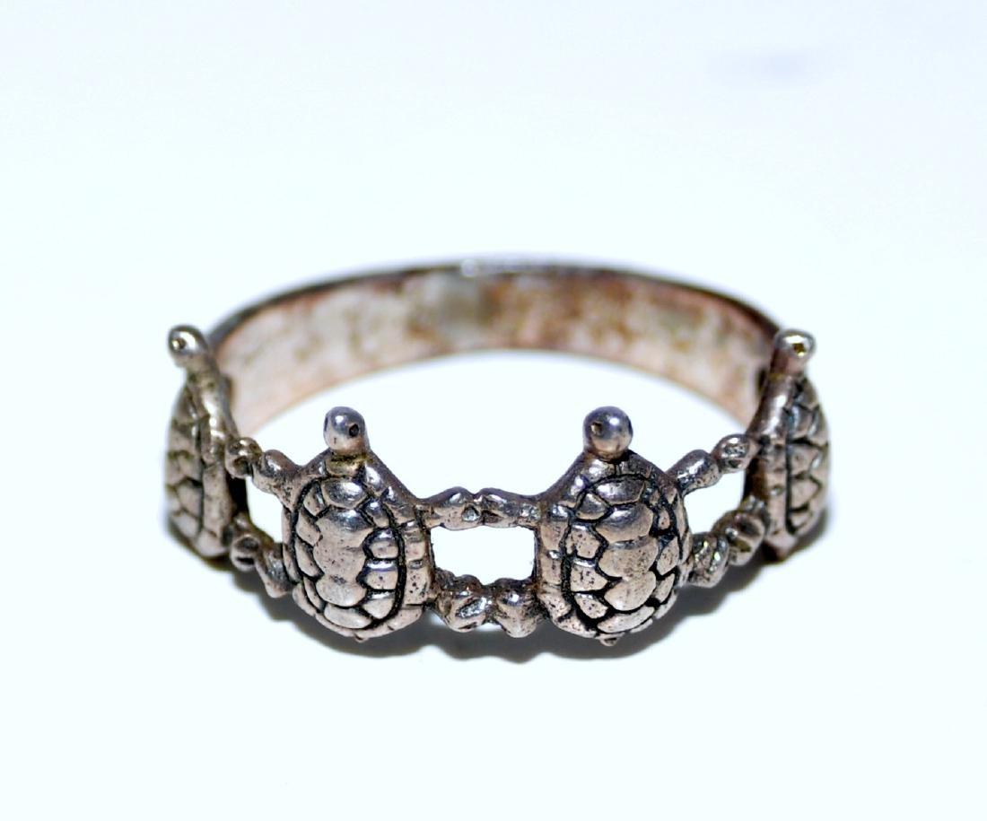 Turtle vintage sterling band - 4