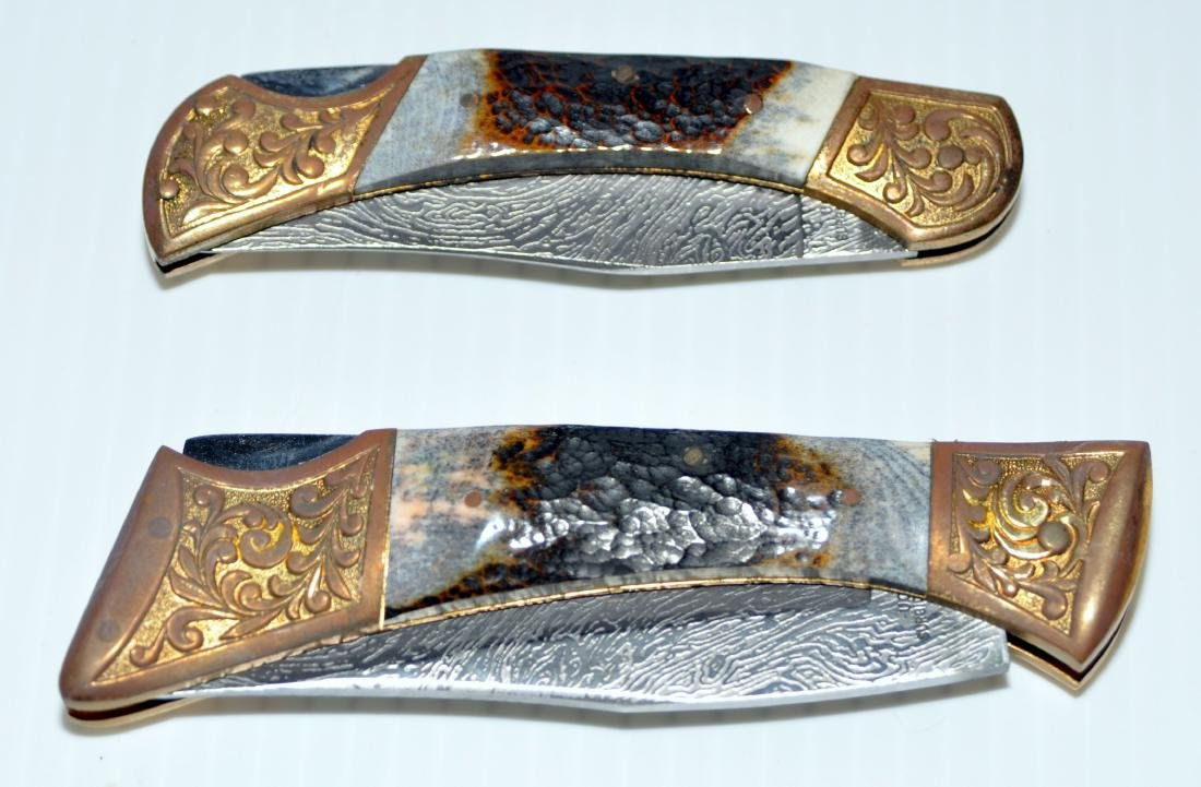 Knives presentation stag grips - 2