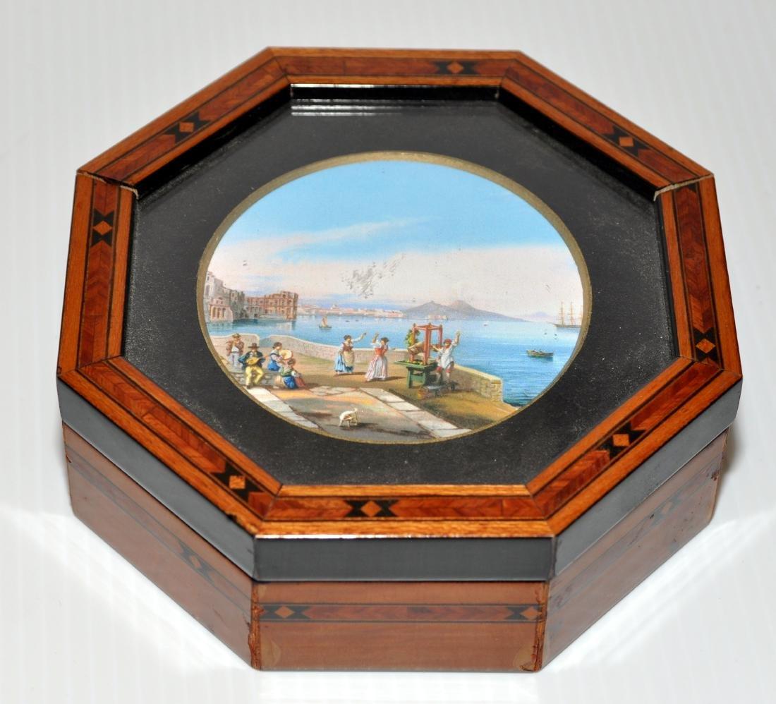 Hand painted vintage box