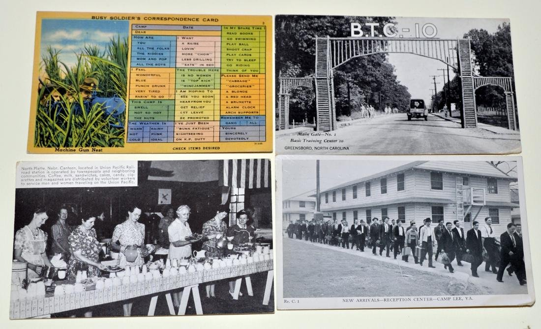 WWII military postcard collection