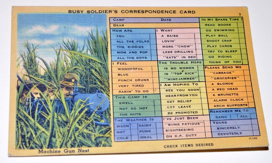 WWII military postcard collection - 3