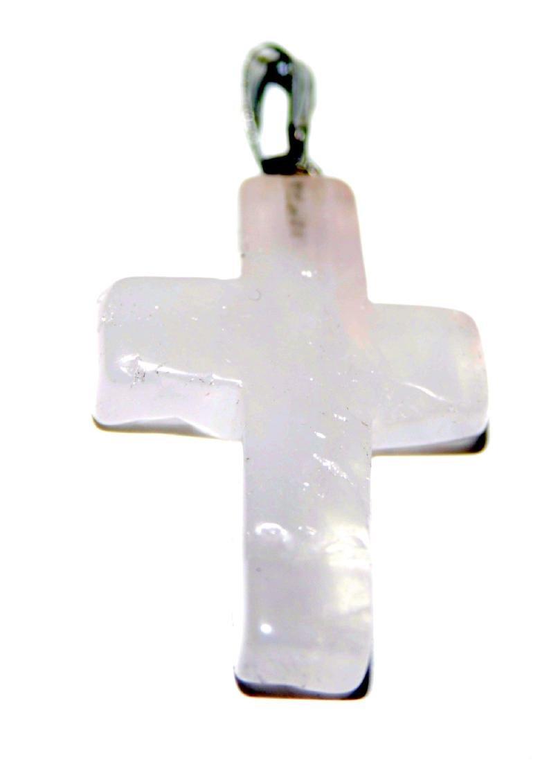 4 gemstones crosses pendants - 5
