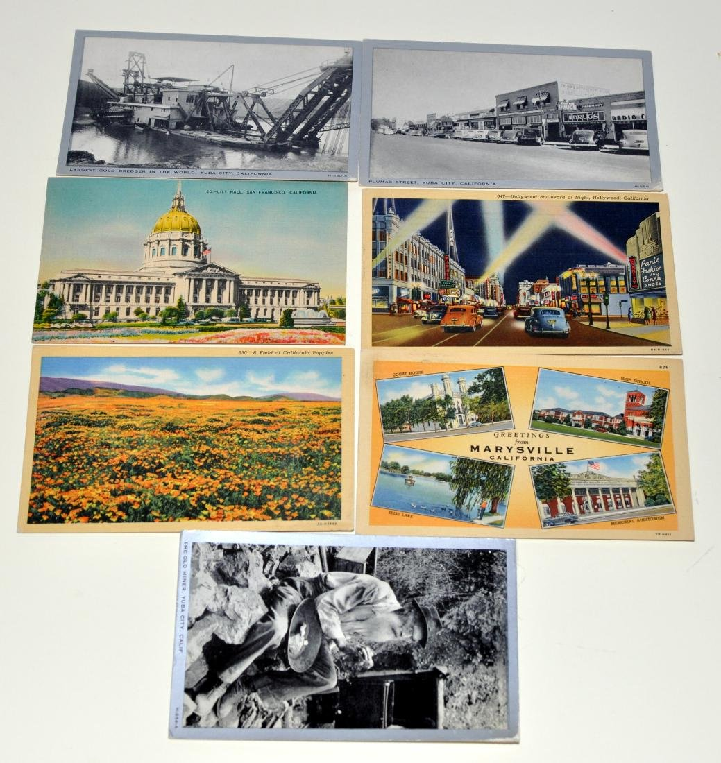 Vintage postcards California Yuba City