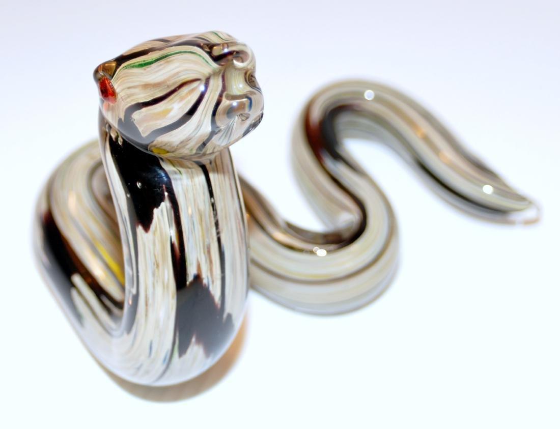 Snake Murano glass coiled