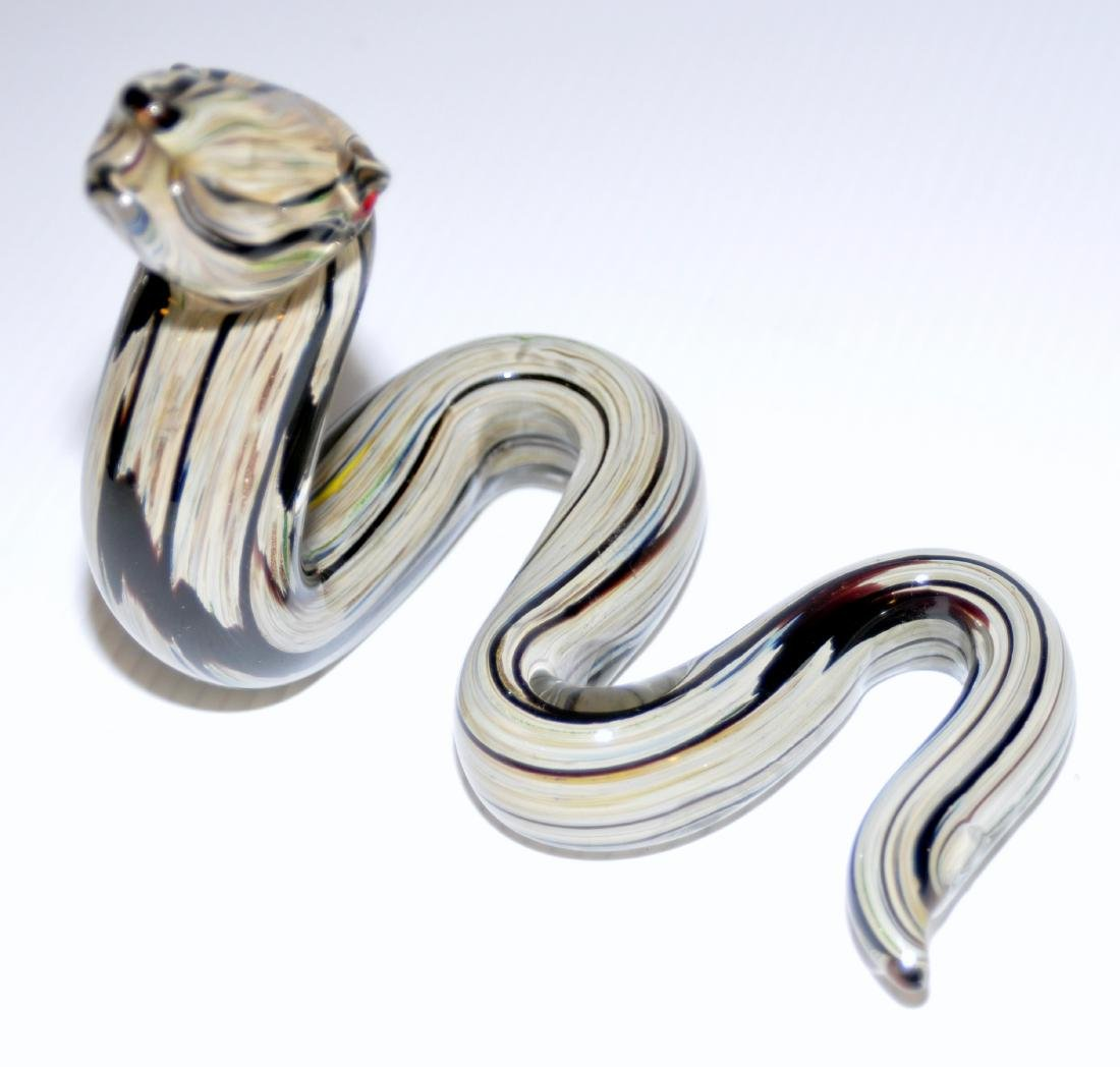 Snake Murano glass coiled - 2