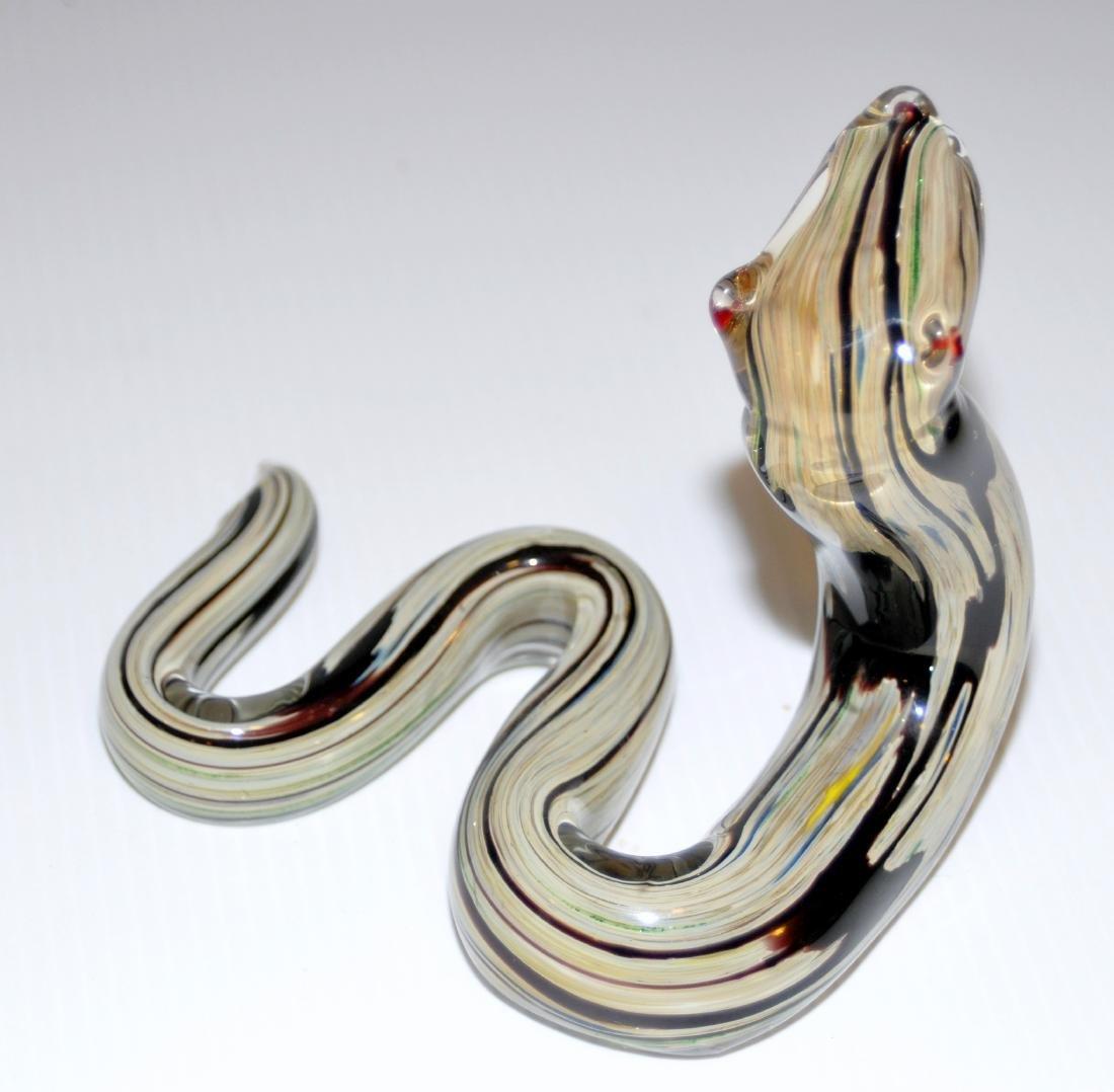 Snake Murano glass coiled - 3