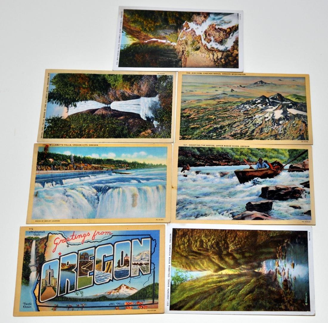 Oregon postcards-40's scenic