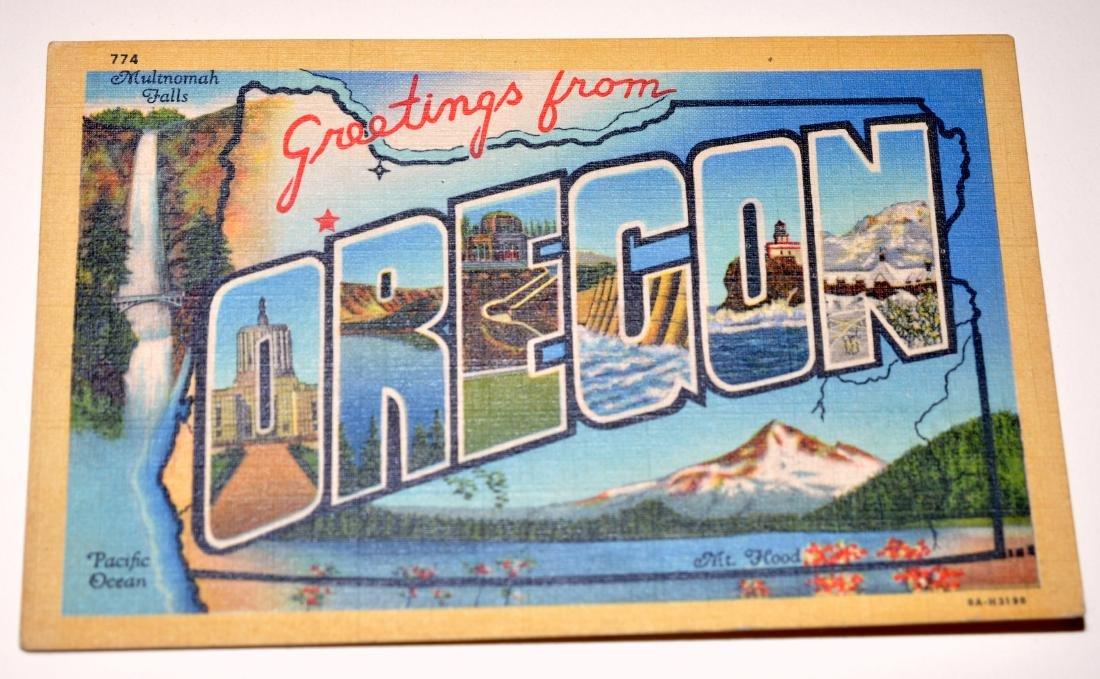 Oregon postcards-40's scenic - 3
