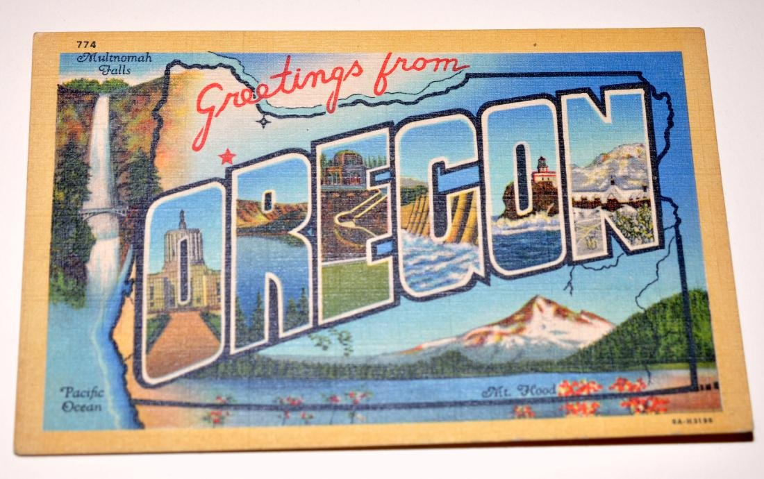 Oregon postcards-40's scenic - 4