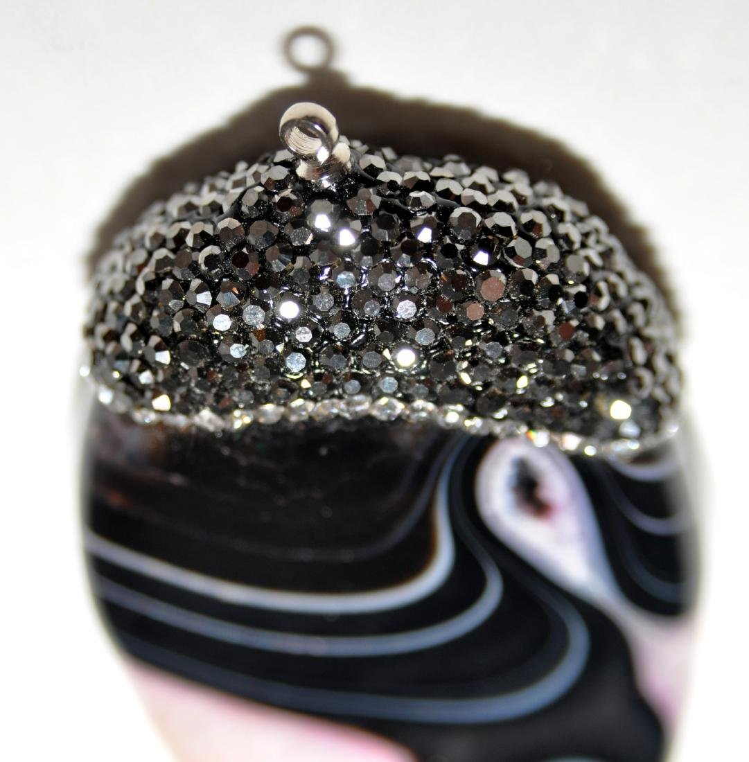 Lacy agate oval pendant - 4
