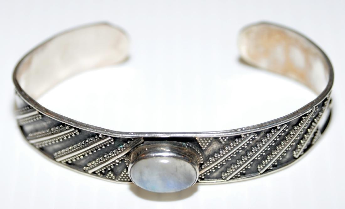 Sterling labradorite cuff bracelet