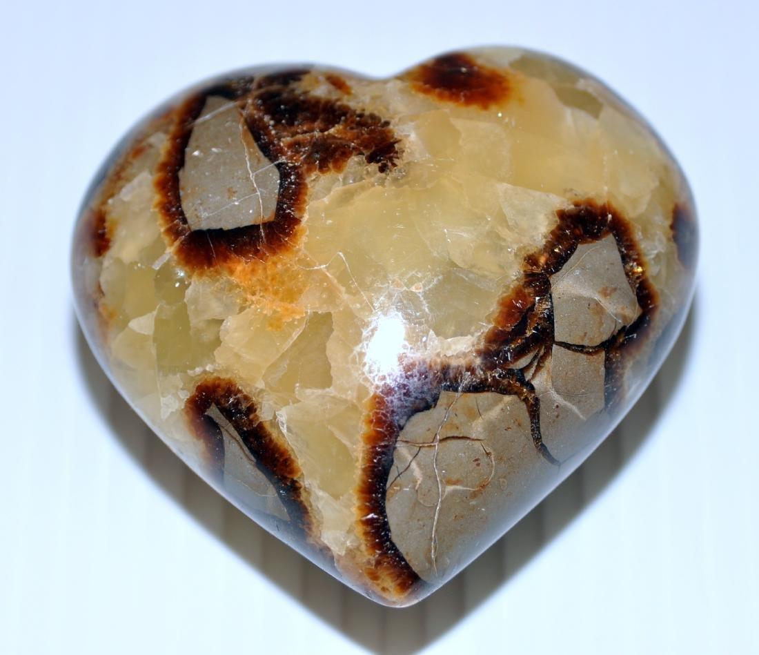 Heart septarian gemstone carving