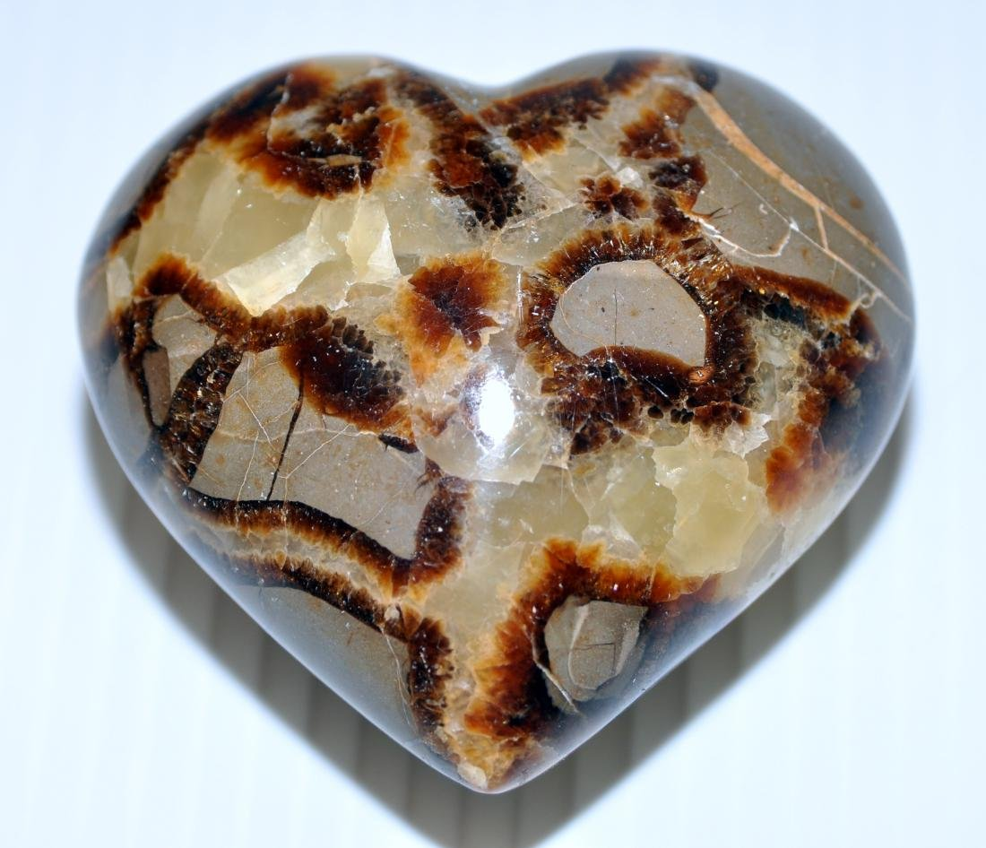 Heart septarian gemstone carving - 2