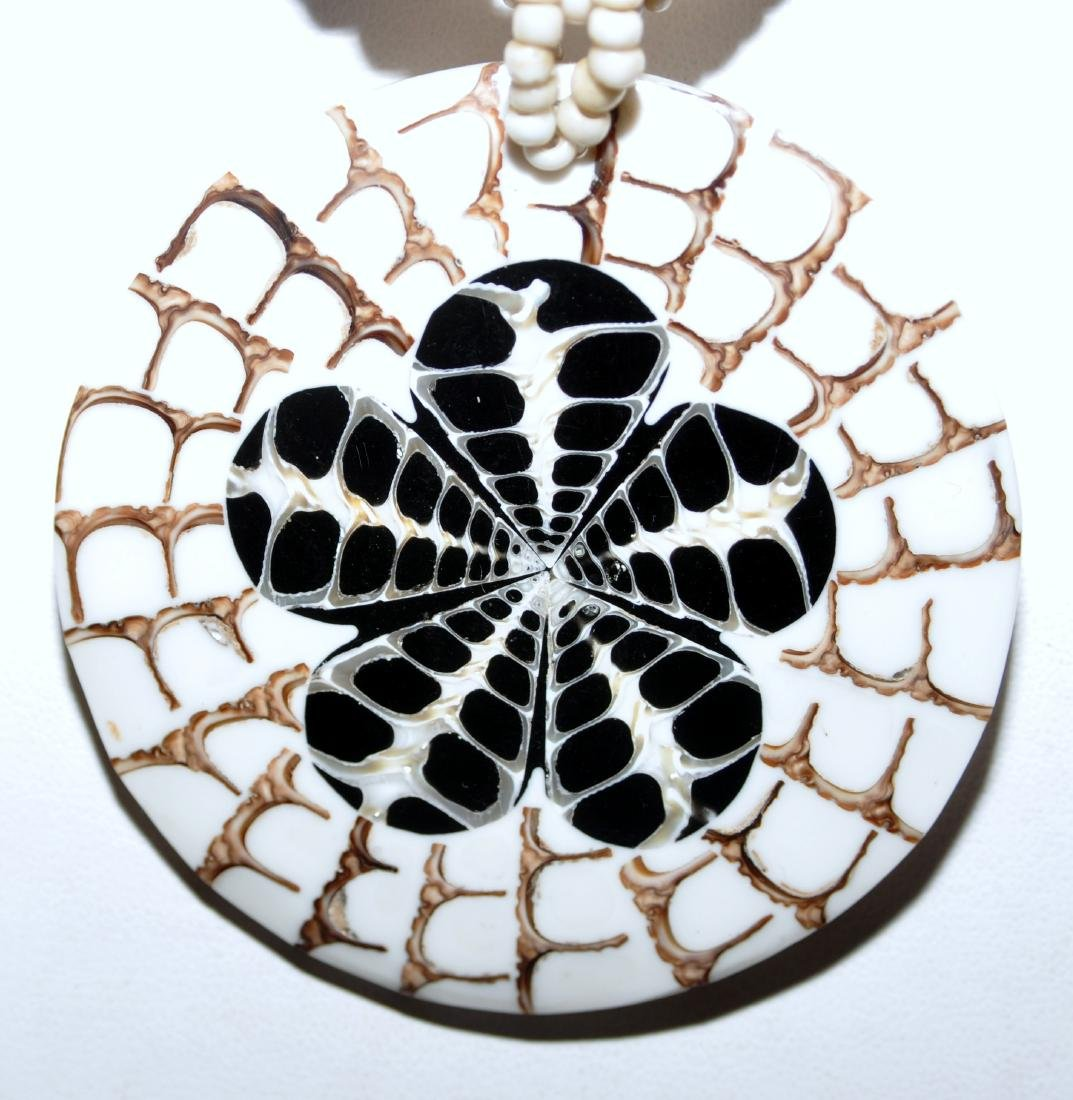 Shell inlaid necklace custom - 2