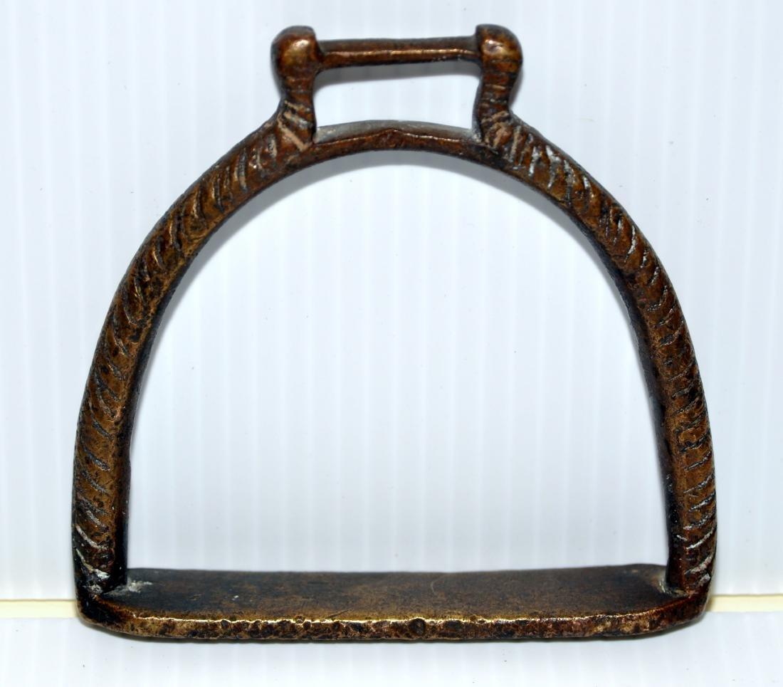 Brass stirrup Spanish Colonial - 2