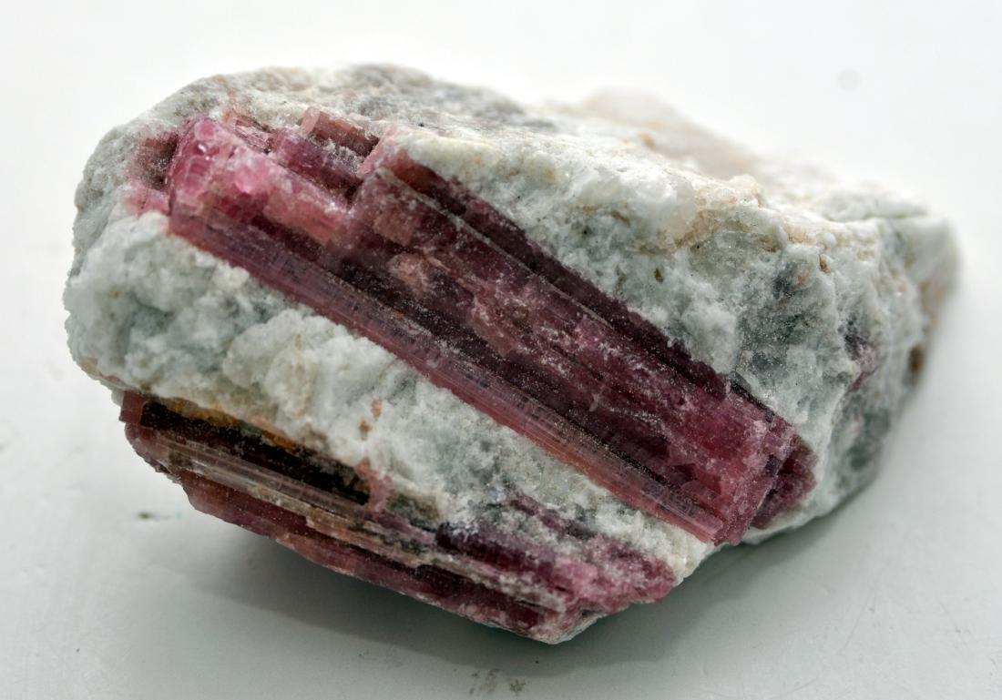 Pink tourmaline mineral specimen