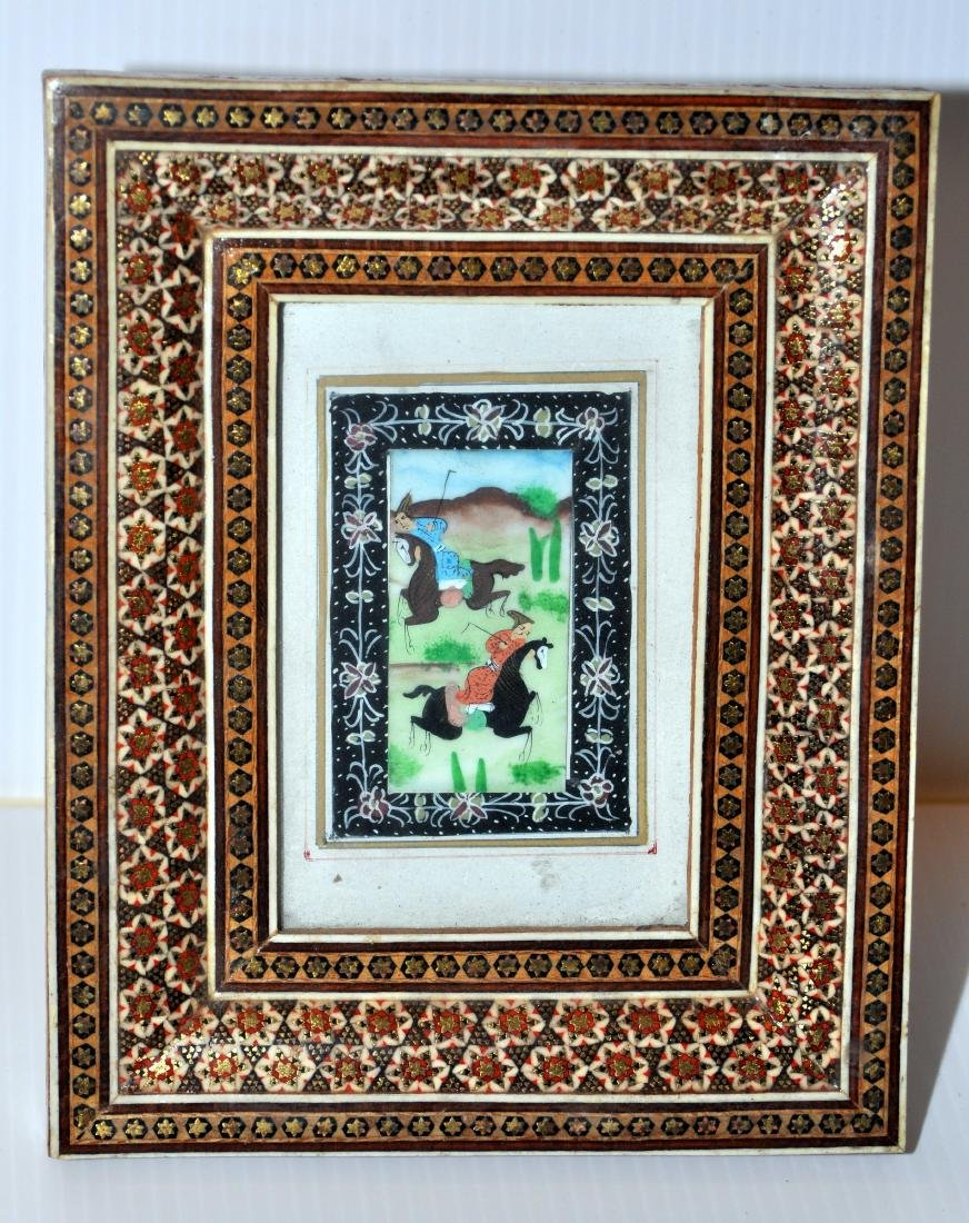 Persian miniature inlaid vintage picture
