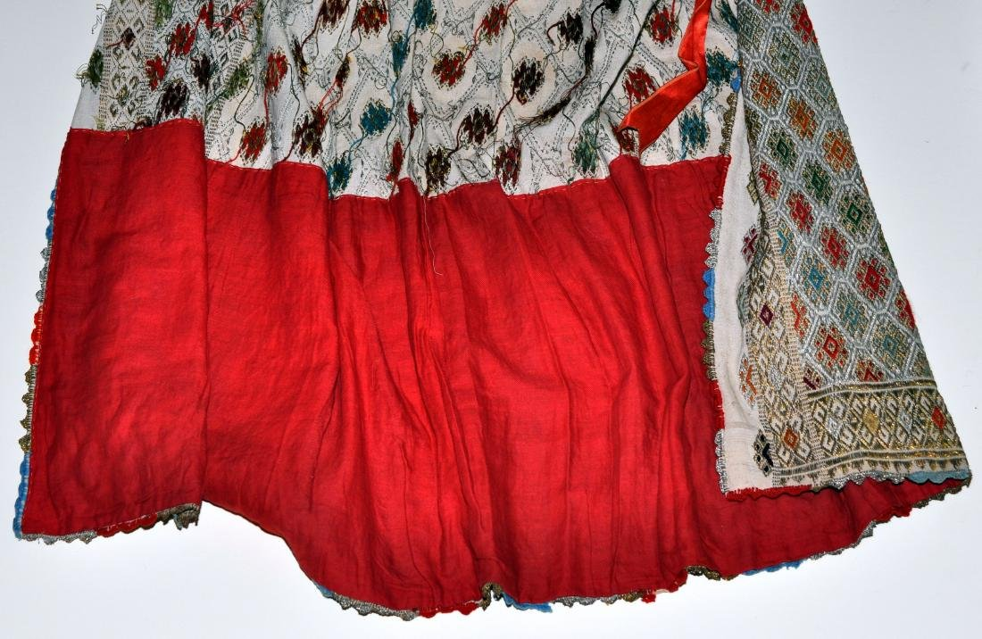 Hungarian ceremonial apron skirt vintage - 9