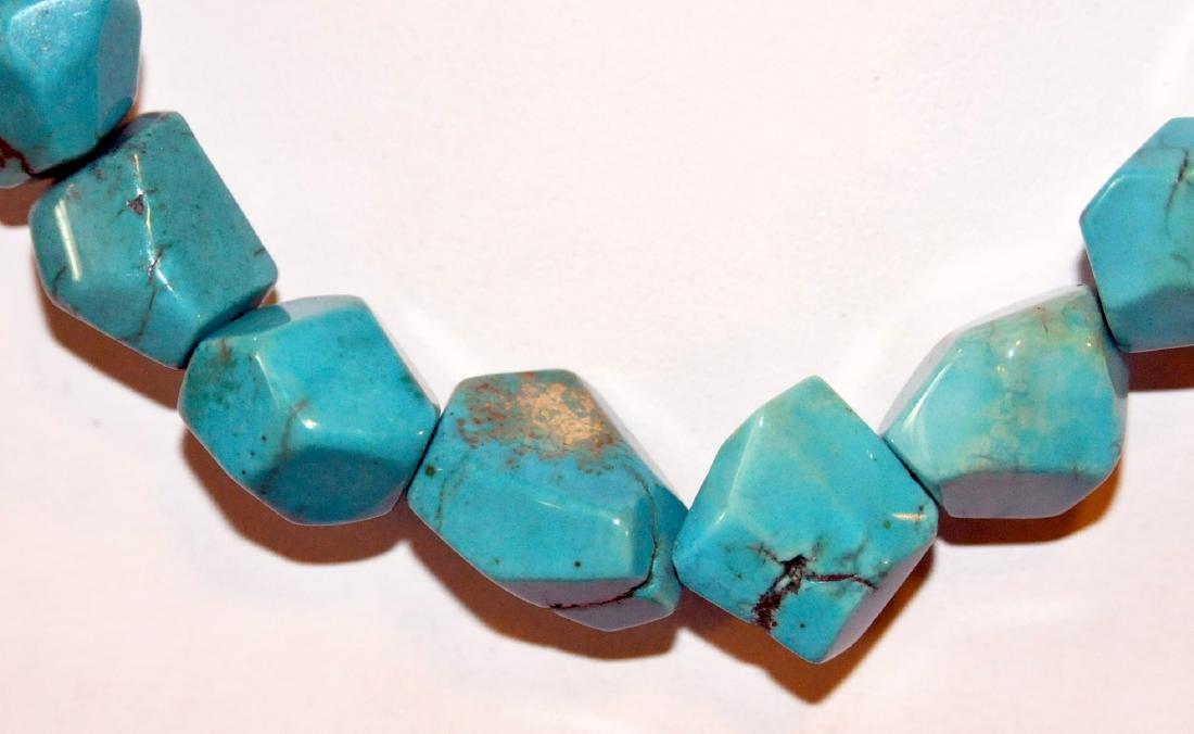 Turquoise necklace sterling designer - 2