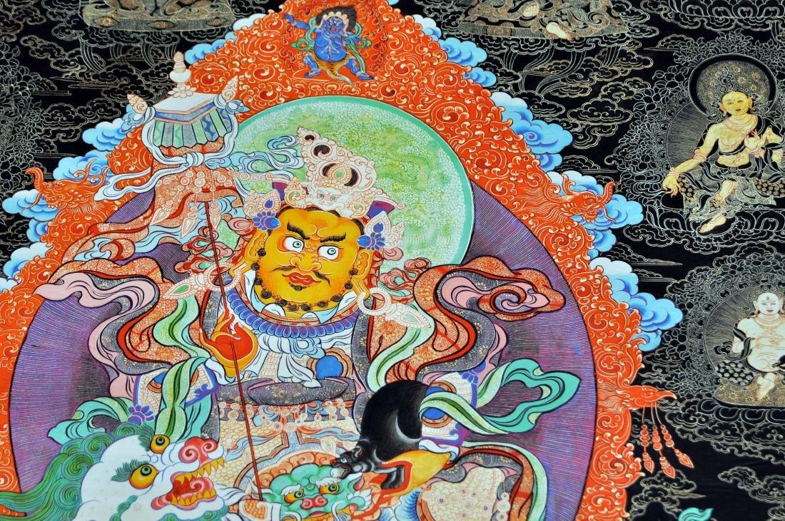 Tibetan tangka Buddha demons dragon in center - 2