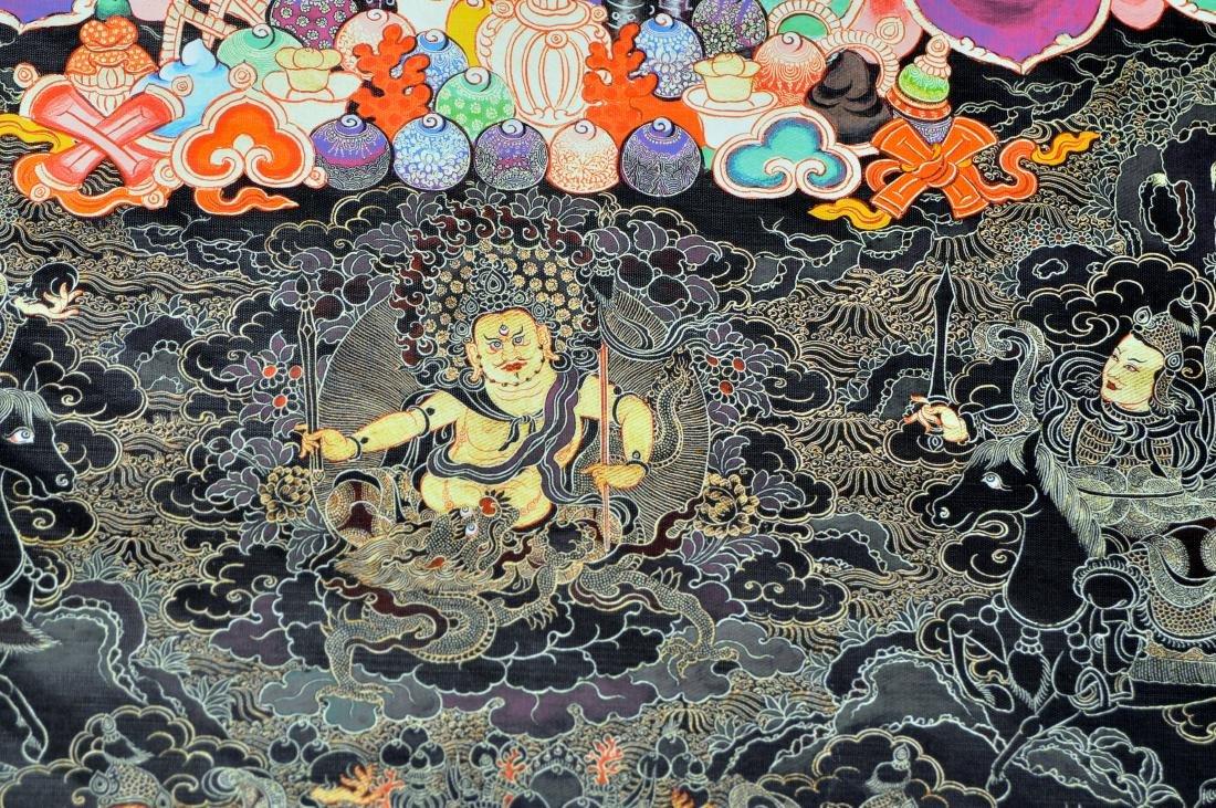 Tibetan tangka Buddha demons dragon in center - 4